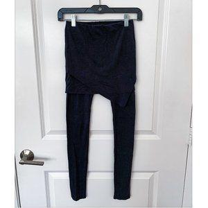 AllSaints Asymmetrical Wrap Skirted Leggings NWOT